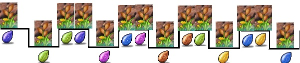 The colours on the bottom reseprent the seed they drop.